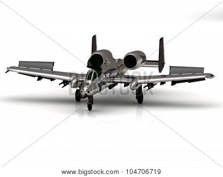 Fighter Silver Airplane