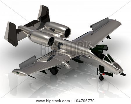 Military Jet Airplane During Airshow