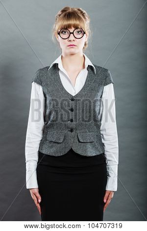 Portrait Of Elegant Young Businesswoman Manager