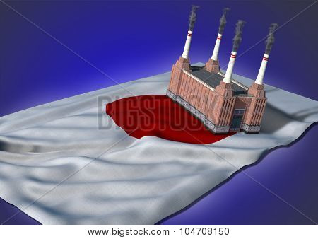 national heavy industry concept - Japanese theme