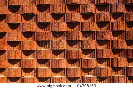 Planter Blocks Retaining Wall. Background, Texture