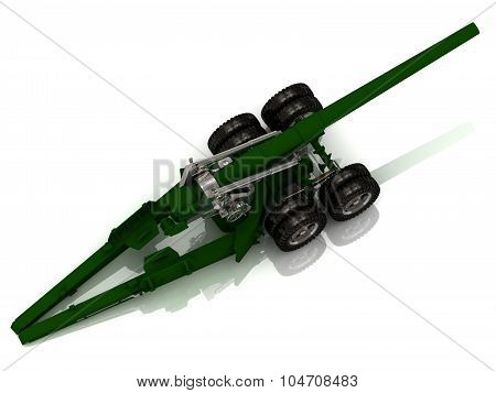 Fighting Green And Silver Howitzer