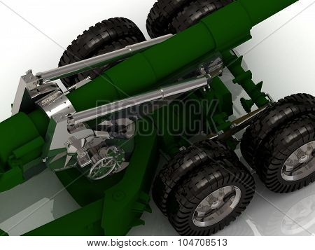 Battle Howitzer Isolated
