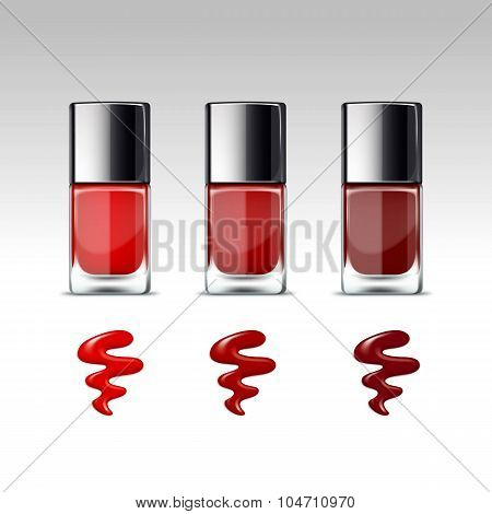Vector Nail Polish Packaging Bottle for Manicure
