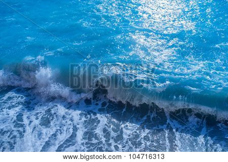 ocean wave close up