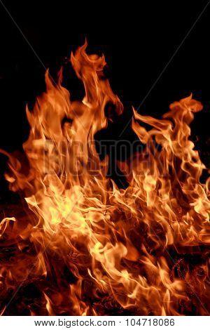 Fire flames blaze