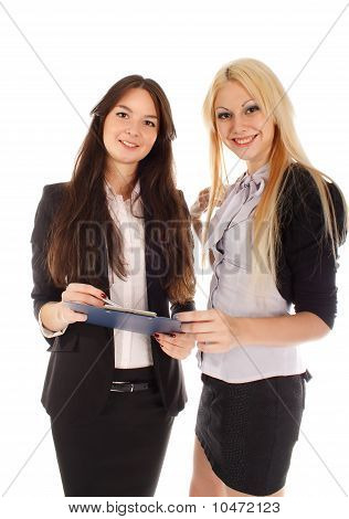 Two Businesswoman With Advisor