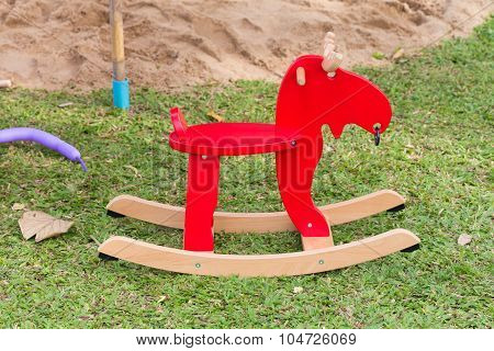 Rocking Deer Chair For Kids Ride Playing In Playground