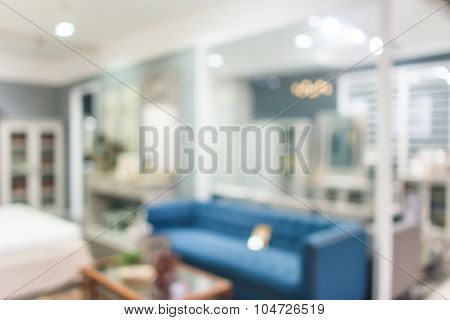 Abstract defocused blurred background blur image of living room