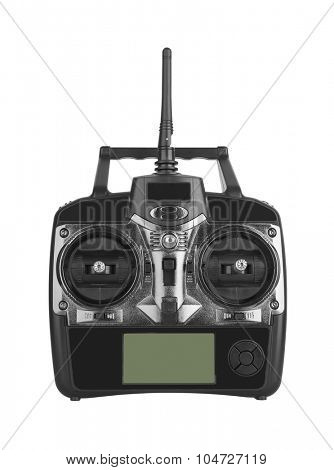 Radio remote control isolated on white background