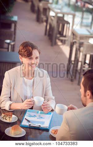 At A Cafe