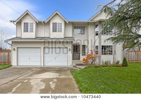 Light gray house