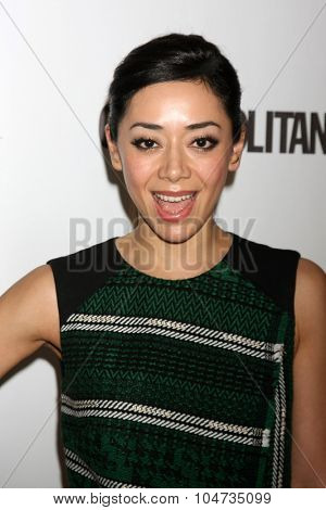 LOS ANGELES - OCT 12:  Aimee Garcia at the Cosmopolitan Magazine's 50th Anniversary Party at the Ysabel on October 12, 2015 in Los Angeles, CA