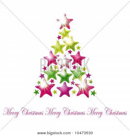Star Christmas Tree - Vector