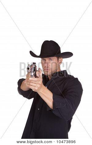 Cowboy Aiming Gun