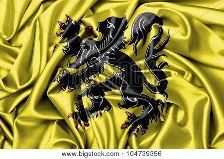 Satin Flag - Flag Of Flanders