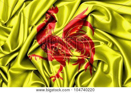 Satin Flag - Flag Of Wallonia