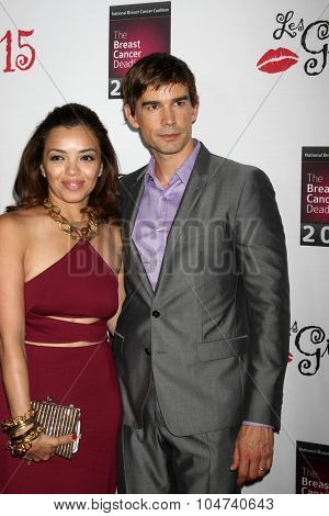 LOS ANGELES - OCT 11:  Anel Lopez, Christopher Gorham at the Les Girls 15 at the Avalon Hollywood on October 11, 2015 in Los Angeles, CA