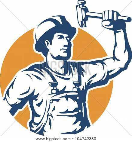 Construction Worker Silhouette Vector