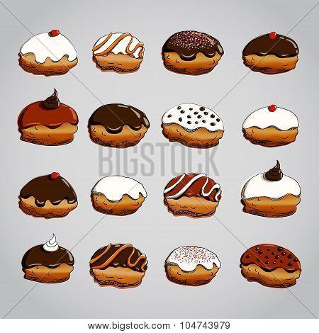 Hanukkah donuts set