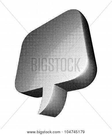 Halftone Text Balloon Ib Black Over White