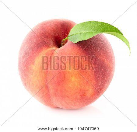 One peach in closeup