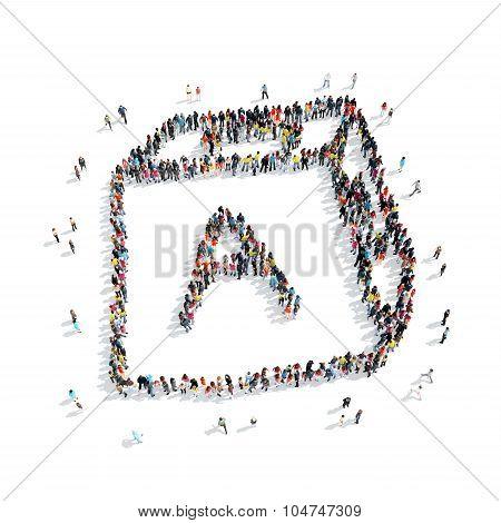 people  shape  cube alphabet