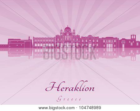 Heraklion Skyline In Purple Radiant Orchid