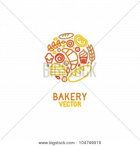 Vector Logo Design Element With Icons
