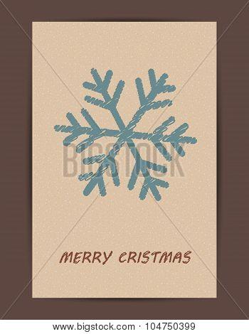 Christmas Symbols Drawn In Childish Style.