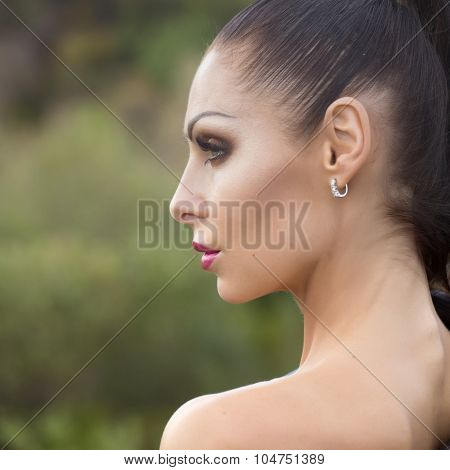 Profile Of Sexy Woman