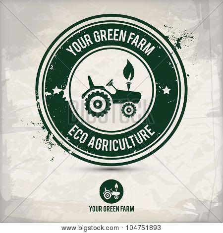 Alternative Green Farm Stamp