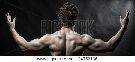 Back View Of Muscular Man