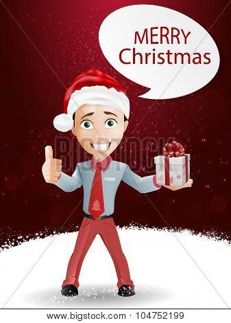 Funny boy and Christmas