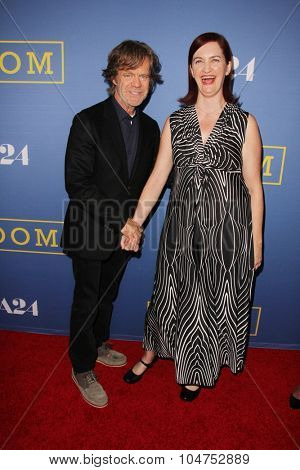 LOS ANGELES - OCT 13:  William H Macy, Emma Donoghue at the