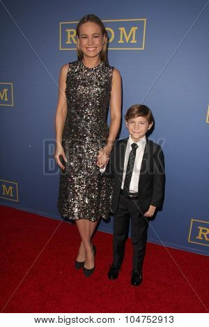 LOS ANGELES - OCT 13:  Brie Larson, Jacob Tremblay at the