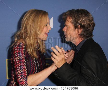 LOS ANGELES - OCT 13:  Joan Allen, William H Macy at the