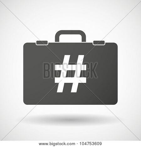 Isolated Briefcase Icon With A Hash Tag
