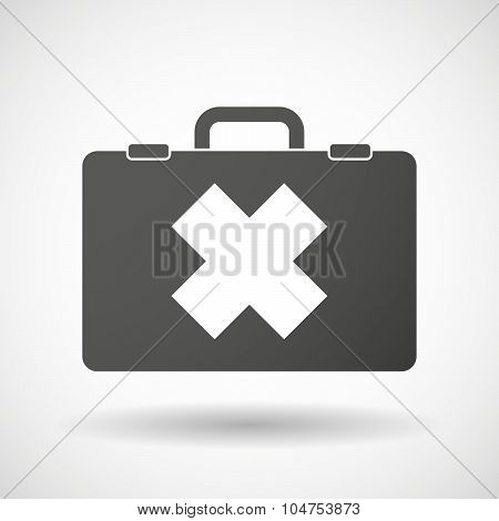 Isolated Briefcase Icon With An Irritating Substance Sign
