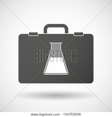 Isolated Briefcase Icon With A Flask
