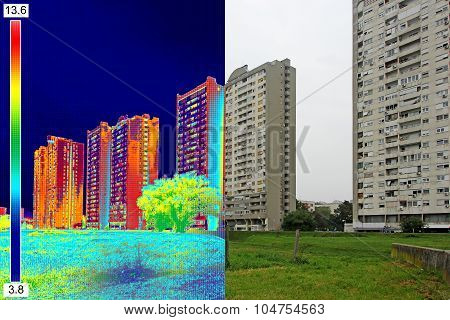 Infrared And Real Image On Residential Building_11