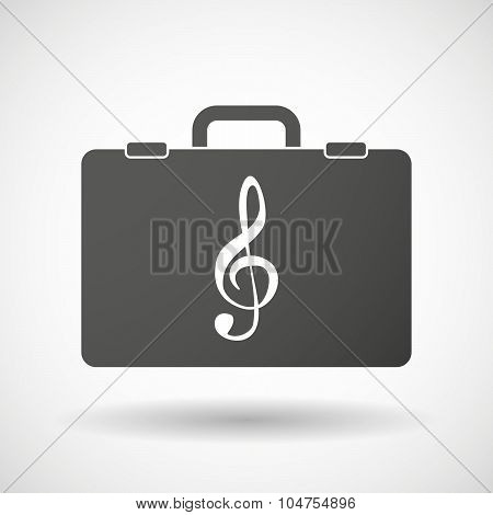 Isolated Briefcase Icon With A G Clef