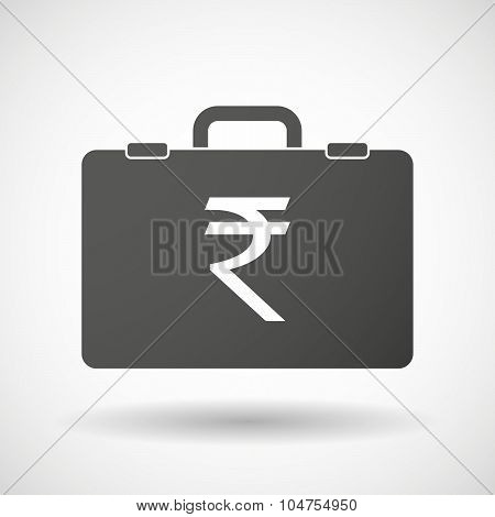 Isolated Briefcase Icon With A Rupee Sign