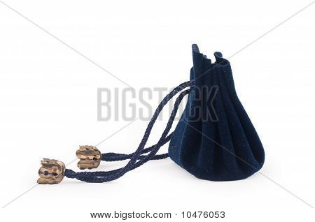 Closeup Shot Of Dark Blue Gift Sac