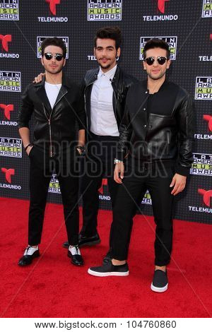 LOS ANGELES - OCT 8:  Il Volo at the Latin American Music Awards at the Dolby Theater on October 8, 2015 in Los Angeles, CA