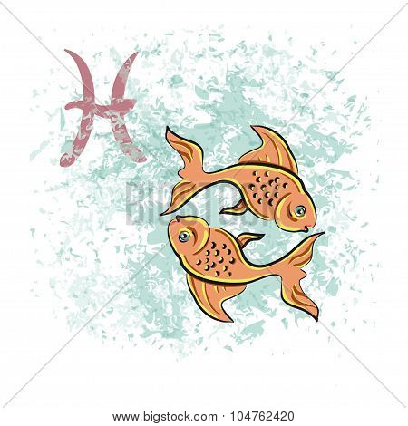 Pisces sign of the zodiac
