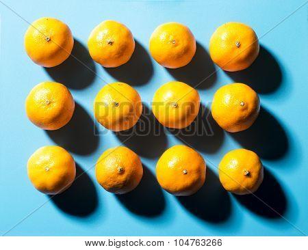 Twelve Satsumas