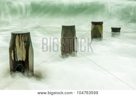 Beach Defences Verus Waves