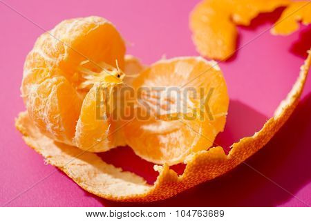 Peeled Satsuma Close Up