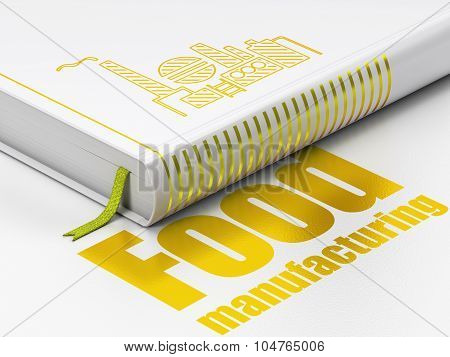 Industry concept: book Oil And Gas Indusry, Food Manufacturing on white background